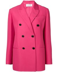Valentino Double Breasted Tailored Blazer - Roze