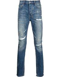 Ksubi Chitch Distressed Slim-cut Jeans - Blue