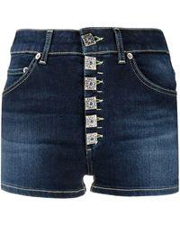 Dondup Button-front Denim Shorts - Blue