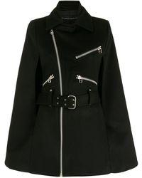 Gloria Coelho Biker-style Cape - Black