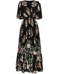 Giambattista Valli Maxi-jurk Met Ruche - Zwart