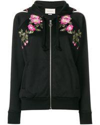 Gucci Flora Bomber Jacket - Zwart