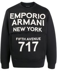Emporio Armani Толстовка С Логотипом - Черный
