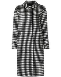Officine Generale - Checked Coat - Lyst
