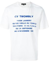 Sankuanz T-shirt Cy Twombly - Blanc
