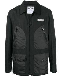 Moschino - Куртка-рубашка На Молнии С Нашивкой-логотипом - Lyst
