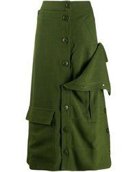 Jacquemus La Jupe Monceau Skirt - Green