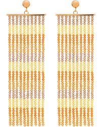Jacquemus Серьги Les Rideaux С Бисером - Оранжевый