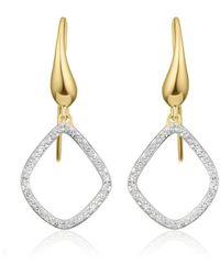 Monica Vinader Gp Riva Diamond Kite Earrings - Металлик