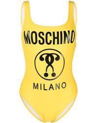 Moschino - ロゴ オープンバック水着 - Lyst