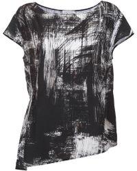 Mara Mac - Asymmetric Printed Blouse - Lyst