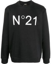 N°21 - Sweatshirt mit Logo-Print - Lyst