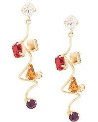 Rosantica Helix Drop Earrings - Metallic