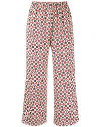Gucci Pantalon imprimé à coupe crop - Multicolore