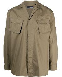 Lardini Рубашка С Подвернутыми Рукавами - Многоцветный