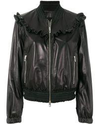 DROMe - Frill Trim Jacket - Lyst