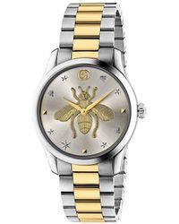 Gucci G-タイムレス 38mm 腕時計 - メタリック