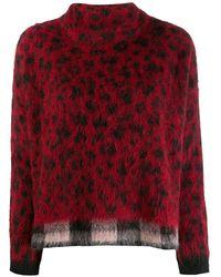 Liu Jo Mix Print Sweater - Red