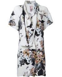 Antonio Marras Printed draped blouse - Multicolore