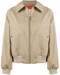 Mackintosh Polla Zip-up Bomber Jacket - Natural