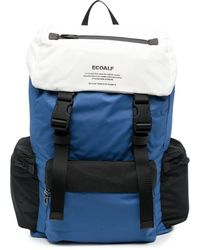 Ecoalf Wild Sherpa Logo-print Backpack - Blue