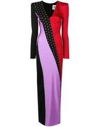 Fausto Puglisi Colour Block Evening Dress - Black