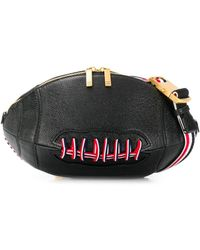 Thom Browne Pebbled Football Belt Bag - Black
