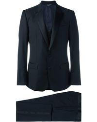 Dolce & Gabbana Driedelig Dinerkostuum - Blauw