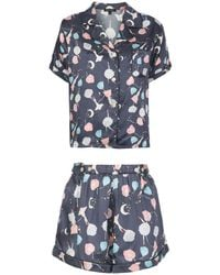 Morgan Lane Set pigiama Katelyn Fiona - Blu