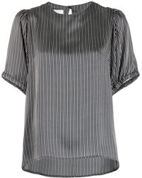Societe Anonyme Striped Silk Blouse - Black