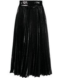 Dolce & Gabbana メタリック プリーツスカート - ブラック