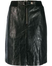 A.P.C. Falda de talle alto - Negro