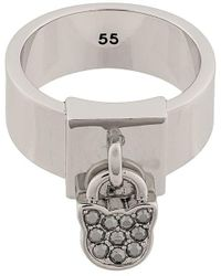 Karl Lagerfeld Choupette Ring - Metallic