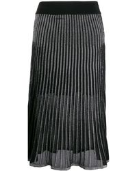Balmain Двухцветная Плиссированная Юбка - Черный