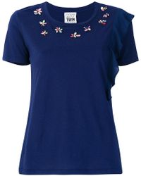 Twin Set - Embellished T-shirt - Lyst