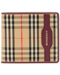 Burberry - 1983 Check And Leather International Bifold Wallet - Lyst