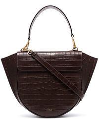 Wandler - Brown Hortensia Medium Mock Croc Leather Shoulder Bag - Lyst 9d3fac7feeaaa