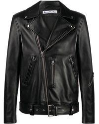 Acne Studios ライダースジャケット - ブラック