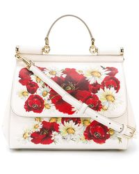 Dolce & Gabbana - Poppy Print Miss Sicily Medium Handbag - Lyst