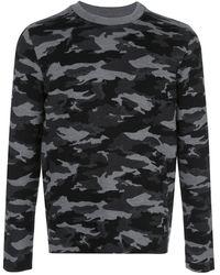 Aztech Mountain カモフラージュ セーター - ブラック