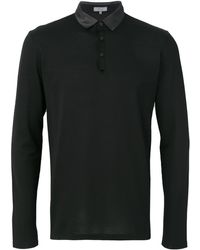 Lanvin コントラスト ポロシャツ - ブラック