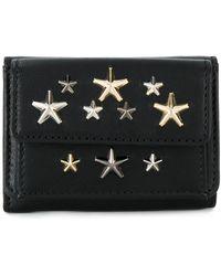 Jimmy Choo Star Studded Tri-fold Wallet - Zwart