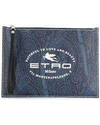 Etro Клатч С Логотипом - Коричневый
