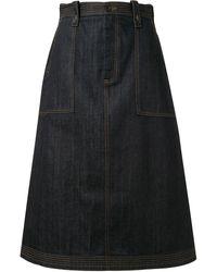Ports 1961 A-line Skirt - Blue
