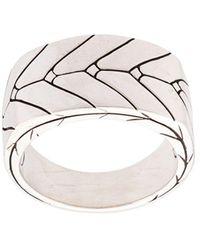 John Hardy Modern Chain Band Ring - Metallic
