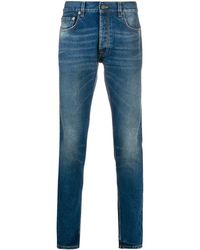 Htc Los Angeles Mid-rise Skinny Jeans - Blue
