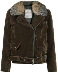 Brunello Cucinelli Куртка На Молнии С Пряжками - Зеленый