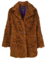 Pinko - Oversized Faux Fur Coat - Lyst