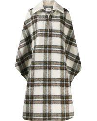 Étoile Isabel Marant Check Cape Coat - Multicolour