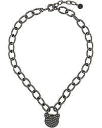 Karl Lagerfeld K/lock Choupette ネックレス - ブラック